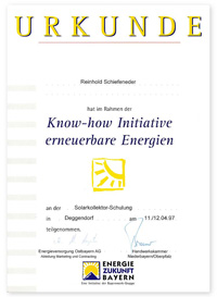 Know-how Initiative erneuerbare Energien